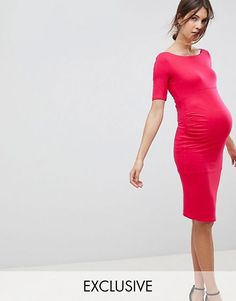 online shopping for ASOS Maternity Bardot Dress With Half Sleeve from top store. See new offer for ASOS Maternity Bardot Dress With Half Sleeve Cute Maternity Dresses, Asos Maternity, Maternity Tops, Day Dresses, Dress Outfits, Dresses For Work, Bardot Midi Dress, Frack, Indian Party Wear