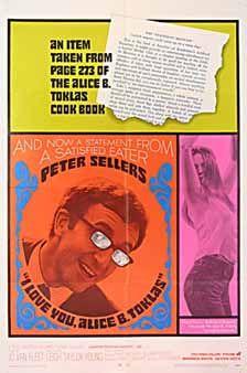 Posteritati: I LOVE YOU, ALICE B. TOKLAS 1968 U.S. 1 Sheet (27x41)