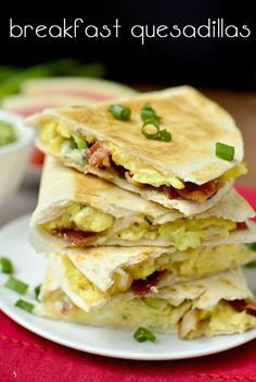 Breakfast Quesadillas pack all the best of breakfast into one piping hot, crispy tortilla – in just 20 minutes! | iowagirleats.com