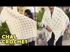 Chal para Damas tejido a crochet o ganchillo paso a paso, fácil de hacer - YouTube