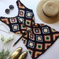 Mode Crochet, Crochet Diy, Crochet Crafts, Crochet Projects, Sewing Clothes, Crochet Clothes, Crochet Dresses, Crochet Designs, Crochet Patterns