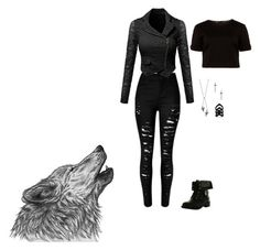 Untitled #1 by mia-tox on Polyvore featuring polyvore, fashion, style, Ted Baker, Refresh, Lauren Wolf, The Rogue + The Wolf and clothing