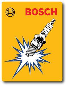 Vintage Repro Bosch Sparkplug Sticker Decal Speed Shop Racing for sale online Bosch, Hot Rod Tattoo, Racing Stickers, Car Logo Design, Vintage Motocross, Old Advertisements, Car Logos, Old Signs, Spark Plug