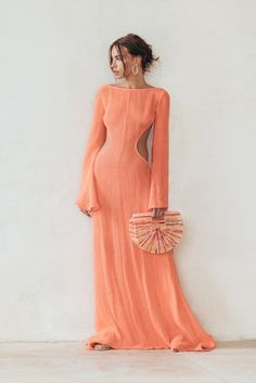 Look Fashion, Fashion Outfits, Fashion Design, Looks Style, My Style, Evening Dresses, Summer Dresses, Orange Dress, Dress Me Up