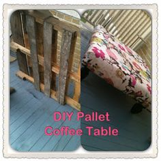 DIY Pallet Coffee Table or Ottoman. This looks like it might be boy proof Pallet Ottoman, Diy Ottoman, Diy Furniture Projects, Diy Pallet Projects, Pallet Ideas, Pallet Wood, Repurposed Furniture, Wood Projects, Craft Projects