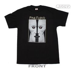 """JiGGy.Com - Pink Floyd - Division Bell T-Shirt Pink Floyd t-shirt with artwork inspired from their 1994 release, """"Division Bell"""" on the front. Printed on a black 100% cotton t-shirt."""