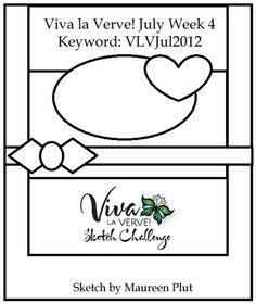Viva la Verve! July 2012 Week 4 Card Sketch - {7/20/12}