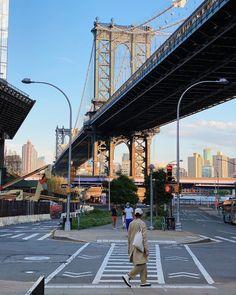 Manhattan Bridge, Brooklyn Bridge, Crane, New York, New York City, Nyc