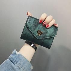 3c86eb489dc9 ミニ財布 極小財布 三つ折り レディース レザー調 合皮素材 お札入れ カード収納