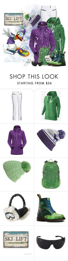 """""""Ski Day-Disney inspired"""" by dgia ❤ liked on Polyvore featuring Capranea, Disney, NIKE, Arc'teryx, Patagonia, Kyi Kyi, The North Face, Karl Lagerfeld, Dr. Martens and Bulgari"""