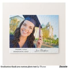 Graduation thank you custom photo text jigsaw puzzle Photo Recovery recover and backup your lost photos and images from your mobil