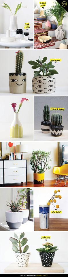 DIY INSPIRATION | Painted Pots