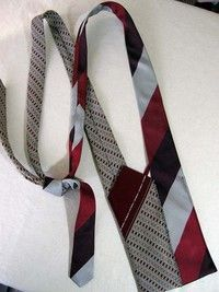 DIY: Bag made out of 2 neckties. From cut out and keep. {great water bottle holder, and adjustable length too!} ♥ this!