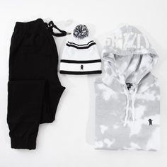 Here's a fresh fit to go with your favorite kicks. Flight Neoprene Pants by Zanerobe Grizzly Gram Beanie by Grizzly Griptape Glacier Gram Hoodie by Grizzly Griptape