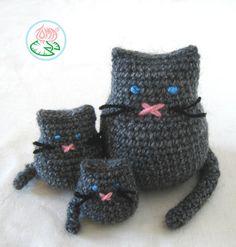 #cats #family #amigurumi #gatos