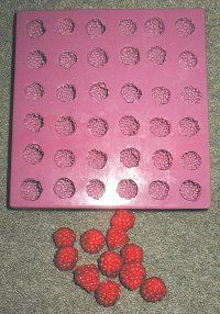 Tiny Raspberry Silicone Mold - Would be very cute on top of a CP Soap Loaf!