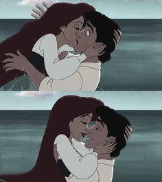 Image via We Heart It https://weheartit.com/entry/140915565 #children #disney #eric #kiss #love #movie #thelittlemermaid #arielle