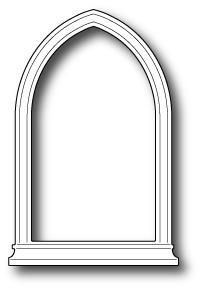 Poppystamps Dies, Small Gothic Window