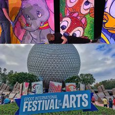 Today on our Twitter we are at #Epcot's new Festival of the Arts! Go RT our tweets and you can win some free stuff! #Disney #wdw #waltdisneyworld #epcot #magickingdom #art #artfestival #animation #themepark #artfulepcot #disneyanimation