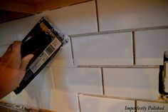 DYI subway tile back splash...easy.