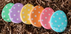 Polkadot Easter Egg Cookies by Sweet Sugarbelle.  The kids will love these!