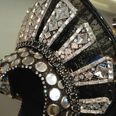 """Detail of the headpiece.  Gregg Barnes's costume for """"Follies"""" on Broadway.  On display at the Theatre Development Fund"""