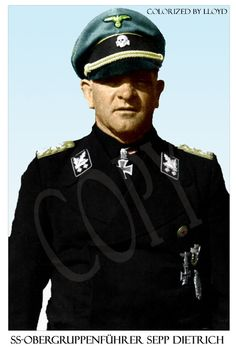 An image I colorized of the Commander of 1st-SS Panzerkorps in Normandy, SS-Obergruppenführer Sepp Dietrich.
