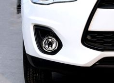Chrome Trim ABS Front Head Fog Light Lamp Circle Cover Trim 2pcs For Mitsubishi outlander sport ASX 2013 2014 2015 car styling #Affiliate