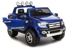 Ford Ranger - Metallic blauw - 12v 2 persoons kinderauto  #elektrisch #kinderauto #speelgoedauto #accuauto