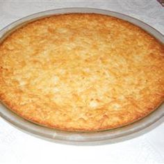 "Mother's Day Pie ""This is a crustless coconut custard pie. The recipe was given to me by an elderly lady I knew. It's never failed me!"""