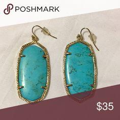Kendra Scott Danielle Earrings Beautiful turquoise earrings from popular designer Kendra Scott. Go great with any outfit! Kendra Scott Jewelry Earrings
