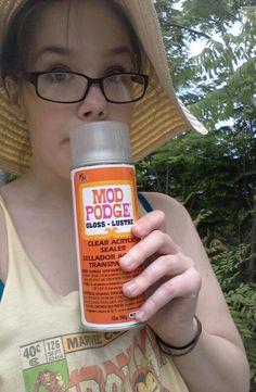 mod podge spray paint