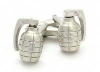 Grenade Silver Cufflinks