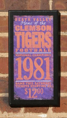 Clemson Tigers Vintage Style Wall Plaque by CrestField on Etsy, $28.00