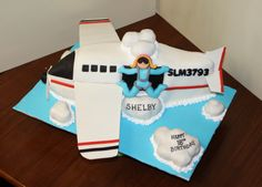 Skydiver Plane Cake skydiver jumping from a plane 50th Birthday, Birthday Cake, Birthday Ideas, Planes Cake, Single Tier Cake, Skydiving, Tiered Cakes, Making Out, Birthdays