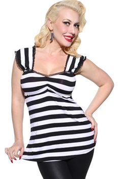 Demi Loon - Bandit Babydoll Pinup Tunic Top. Up to 3XL.