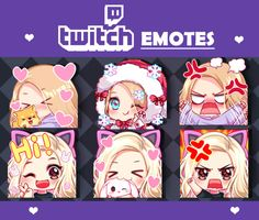 Fiverr freelancer will provide Graphics for Streamers services and draw cute custom twitch emotes, sub badges within 29 days Twitch Streaming Setup, Discord Emotes, Manga Tutorial, Emoji Stickers, Drawing Studies, Anime Base, Drawing Expressions, Chibi Girl, Girl Sketch