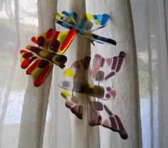 fused glass butterfly - Google Search
