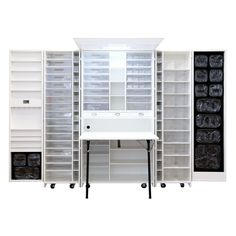 A spacious, mobile workstation that makes working on any project more fun! Her HobbyBox comes standard with a Daylight LED light, 22 of our Clear Acrylic Totes, and 7 clear zipper pouches. Folding Wardrobe, Foldable Wardrobe, Fold Out Table, Craft Cabinet, Sewing Cabinet, Wood Drawers, Take A Seat, Storage Bins, Craft Storage