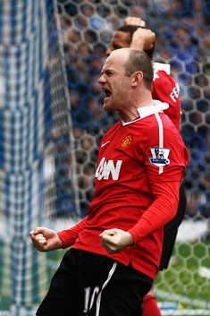 Wayne Rooney of Manchester United celebrates after scoring a penalty during the Barclays Premier League match between Blackburn Rovers and Manchester United at Ewood park on May 2011 in. Get premium, high resolution news photos at Getty Images Barclays Premier, Manchester United Players, Blackburn Rovers, Cricket Sport, Wayne Rooney, Barclay Premier League, Premier League Matches, Football Players, Scores