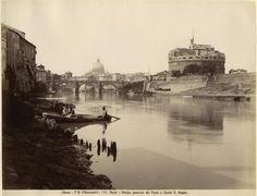 Fratelli D'Alessandri - n. 146 - Roma - Veduta generale del Ponte e Castel S. Angelo