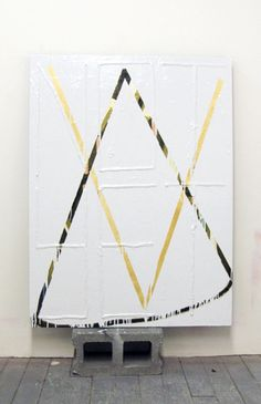 """Ian Swanson, """"The Argument,"""" acrylic and enamel on canvas on, cinderblock… Modern Art, Contemporary Art, All The Colors, Abstract Art, Art Gallery, Display, Cool Stuff, Canvas, Drawings"""