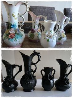 thrift store vases, less tacky