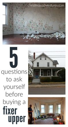 Interested in buying a #fixerupper?  This family has been fixing up a major fixer upper for a year, and they have 5 wise questions to ask yourself before buying one!  Great advice!