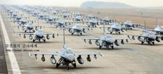 60 F-16's at South Korean Airbase