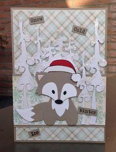 scrapcard girls Marianne Design Cards, Christmas Cards, Xmas, Winter Cards, Punch Art, Handmade Christmas, Marianne Vos, Paper Crafts, Scrapbook