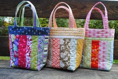 The fabric I used in this bag is Figures by Zen Chic for Moda    I have been making these library totes from my scraps. They are in pret...