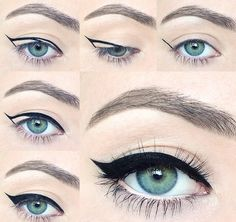 How to Draw a Perfect Eyeliner Wing Beauty Hacks  Pampadour #makeup #pampadour…
