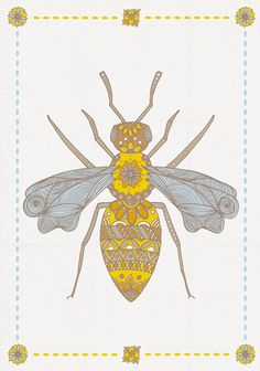 ≗ The Bee's Reverie ≗  Bee Print