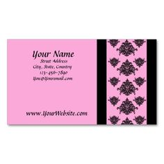 just sold 1 box of 100 personalized Pink and Black Damask Business Cards